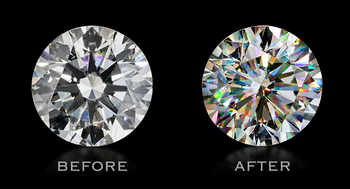 Fire Polish Reignites the Fluorescent Diamond Market